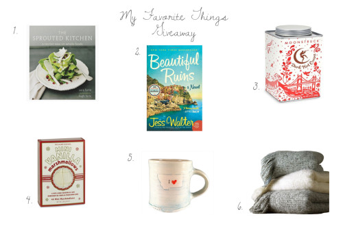 My Favorite Things: What I Can't Live Without and a Giveaway